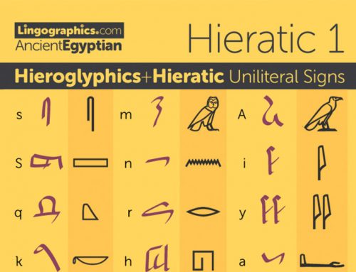 Hieratic + Hieroglyphs Uniliteral Signs