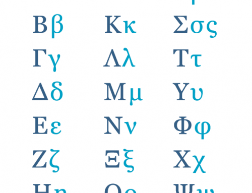 Greek Alphabet Cheat Sheet