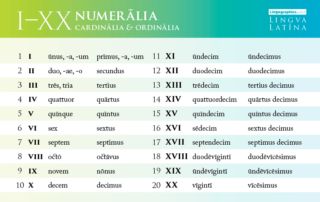 numbers in latin