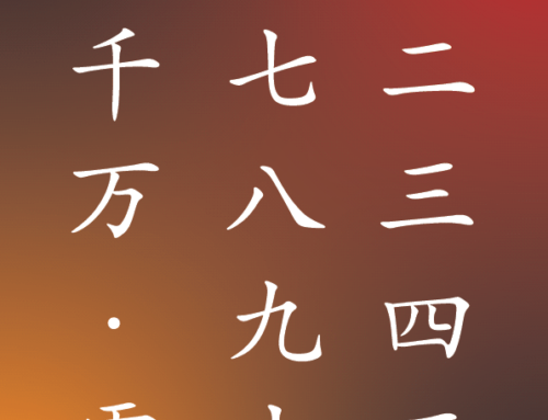 Kanji for Numbers 1 – 10,000 and Zero